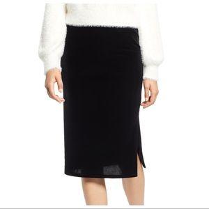 NEW Halogen Black Velvet Pencil Skirt